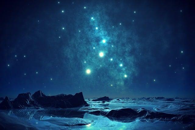 Blue, Sky, Night, Romantic, Almost Night, Evening