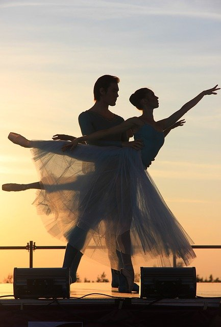 Ballet, Evening, Sunset, Dance, Couple, Sky, Summer