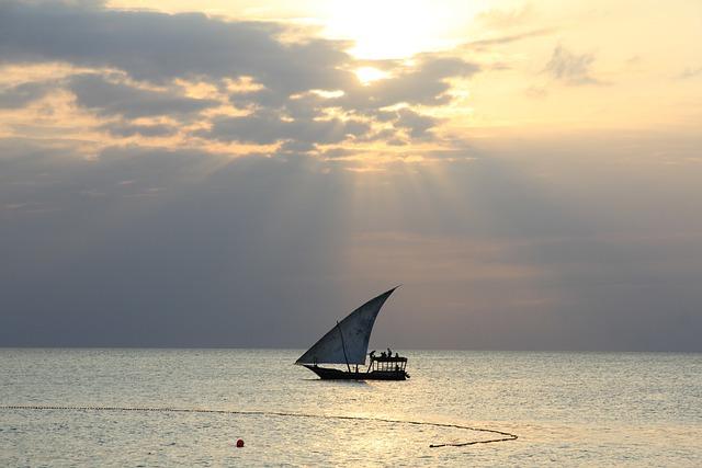 Sunset, Boat, Sea, Water, Ocean, Sky, Nature, Evening