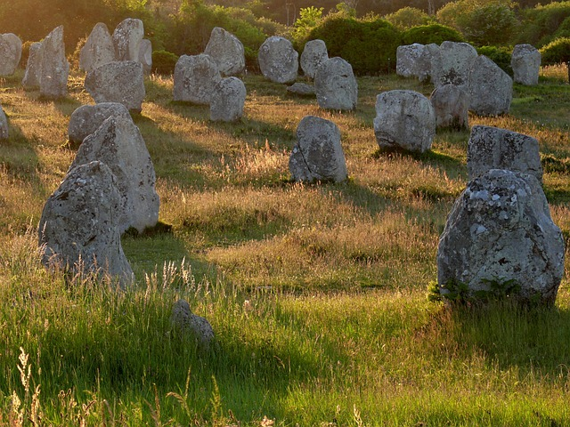 Menhir, Menhirs, Brittany, Carnac, Evening, Megaliths