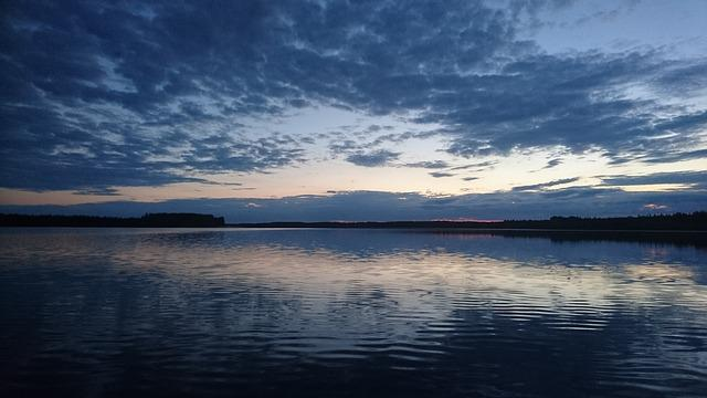 Lake, Water, Lake In Finland, Evening, Calm