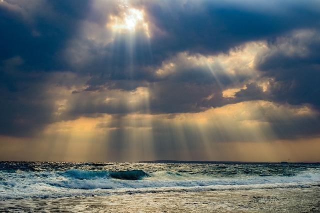 Sea, Beach, Waves, Horizon, Coast, Landscape, Evening