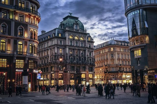 Vienna, Austria, City, Evening, Europe, Architecture