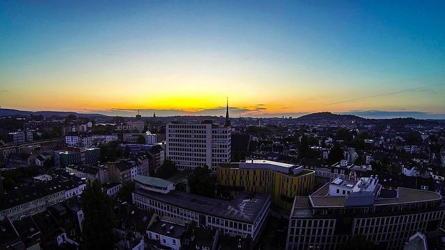 Aachen, Evening, Evening Sky, Gopro, Phantom 2, Sun