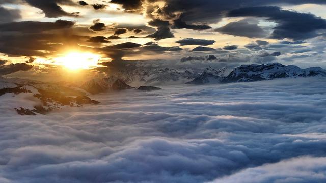 High Salve Austria, Sunset, Evening Mood At Mountain