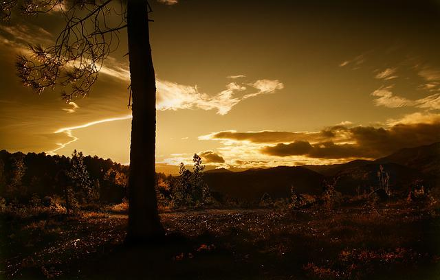Sunset, Dawn, Panoramic, Twilight, Evening, Nature