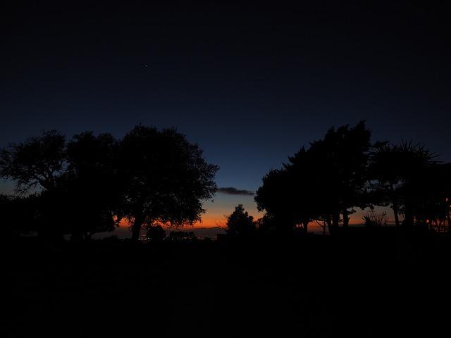 Sunset, At Night, Peaceful, Dark, Venus, Evening Star