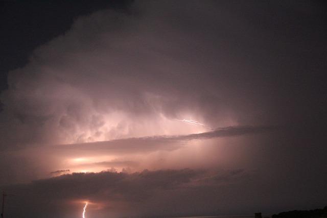 Lightning, Storm, Sky, Evening