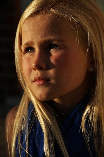 Blonde, Girl, Evening Sun, Portrait, Beauty