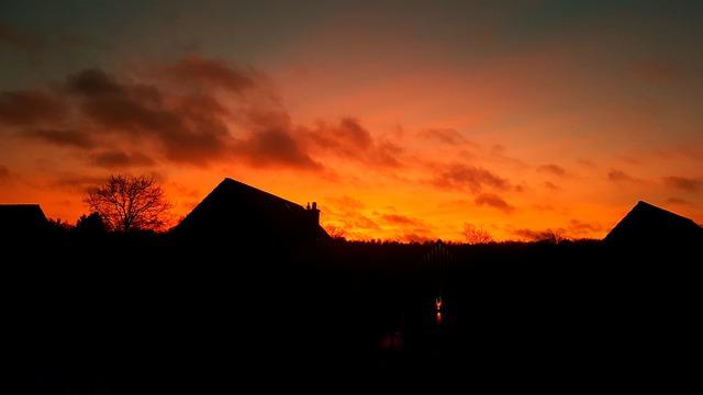 Sunset, Dawn, Dusk, Panorama, Evening