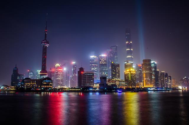 Shanghai, Urban Landscape, The Bund, Light, Evening