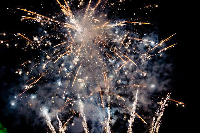 Fireworks, Night, Sparklers, Event, Party, Playful