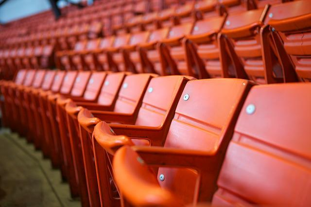 Stadium, Seats, Orange, Event, Empty, Auditorium