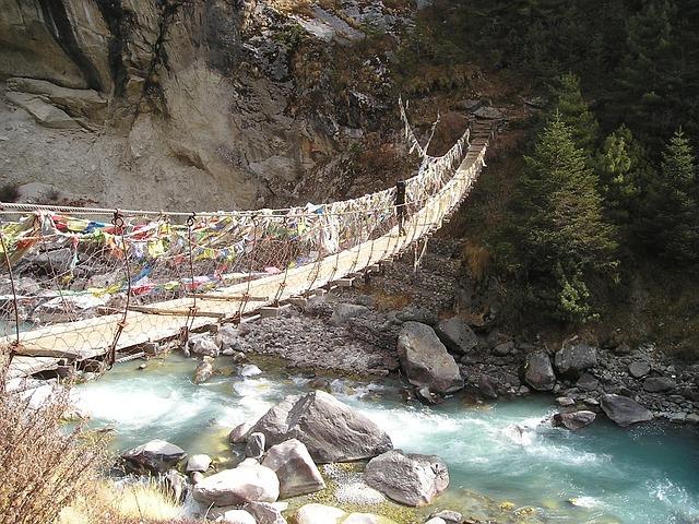 Nepal, Himalayas, Everest, Trek, Suspension Bridge