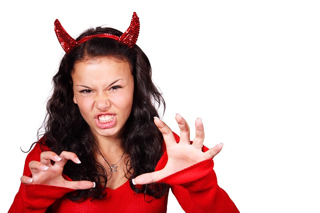 Costume Aggressive Demon Devil Evil Female Girl  sc 1 st  Max Pixel & Free photo Hair Woman Horns Attractive Fantasy Female Person - Max Pixel