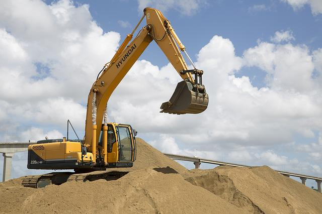 Excavation, Power Shovel, Excavator, Sand, Digger