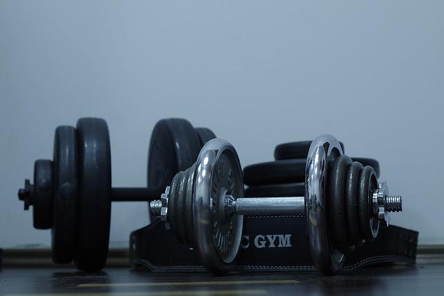 Sport, Exercise, Gym, Dumbbell, Bitumen, Iron, Health