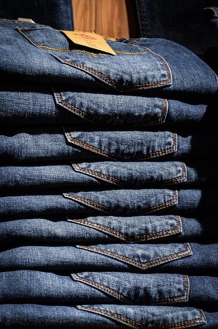Jeans, Pants, Blue, Shop, Shopping, Shelf, Exhibition