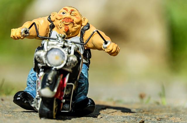 Biker, Fig, Motorcycle, Exit, Road, Travel