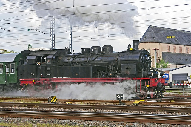 Steam Locomotive, Exit, Full Steam, Cylinder Steam