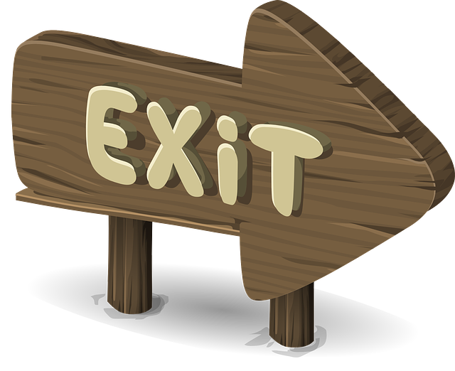 Sign, Post, Board, Exit, Direction, Directional, Arrow