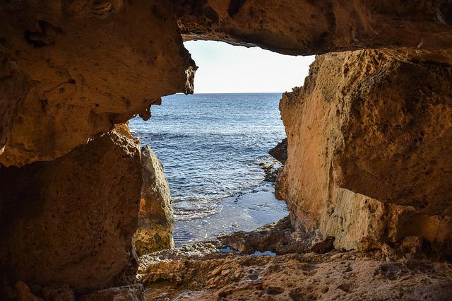 Cave, Exit, Geology, Nature, Sea, Cavo Greko