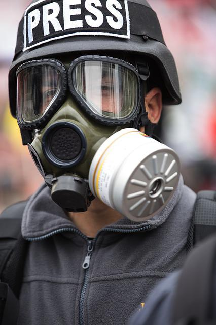 Gas Mask, Portrait, Exposure, Attack, Young, Human