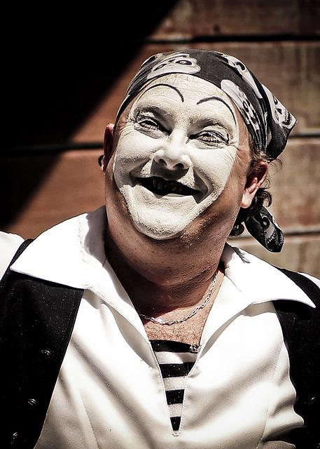 Clown, Mime, Face, Expression, Makeup, Smile, Actor