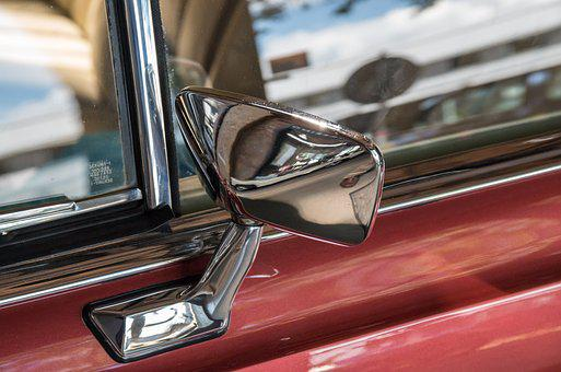 Auto, Car Mirror, Exterior Mirrors, Chrome
