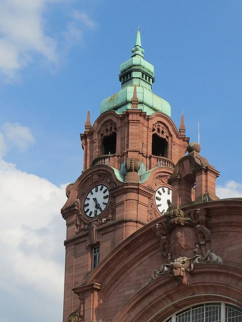 Main Station, Wiesbaden, Train Station, Exterior, Tower