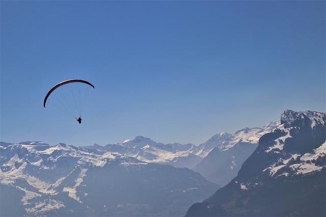 Parachute, Extreme, Alpine, Freedom, Tops, Flight