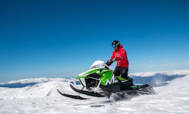Snowmobile, Jump, Extreme