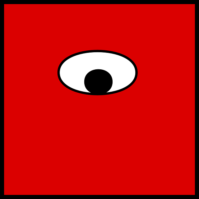 Eye, One, Uni, Red, Square, See, Cyclops, Funny