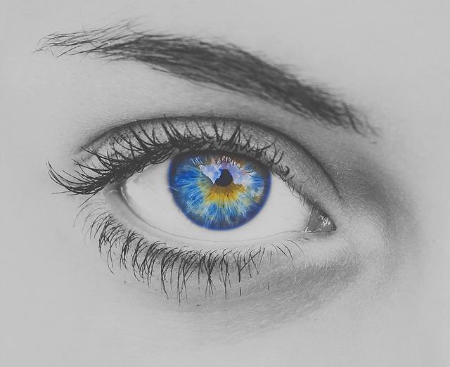 Eye, Blue, Eyelash, Eyeball, Eyesight, Eyebrow, Vision