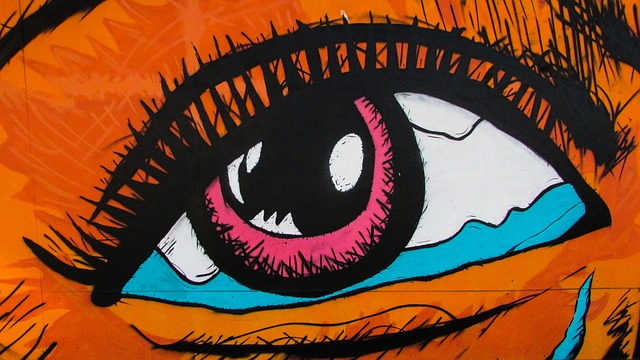 Eye, Colors, Woman, Eyelashes, Graffiti