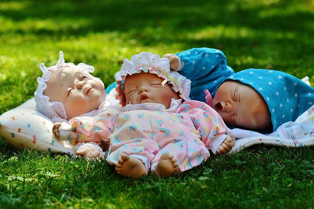 Babies, Three, Sleep, Eyes Closed, Peaceful, Cute