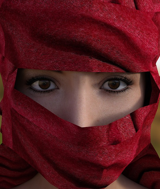 Woman, Headscarf, Hijab, Portrait, Head, Face, Eyes