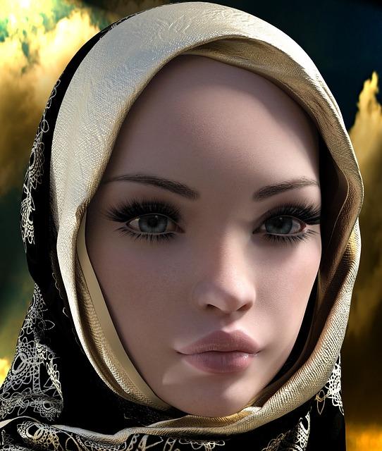 Woman, Headscarf, Hijab, Portrait, Head, Face, Eyes