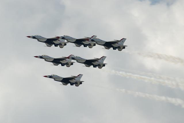 Air Force, Thunder Birds, Air Show, F-16, Jets
