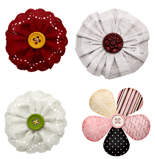 Scrapbook Flowers, Fabric Flower, Fabric, Scrapbook
