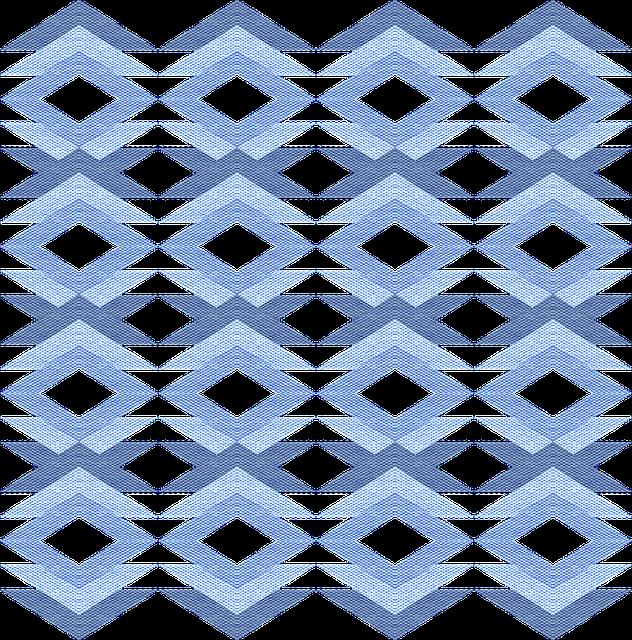 Fabric, Texture, Geometric, Blue, Shades, Shapes, Hues