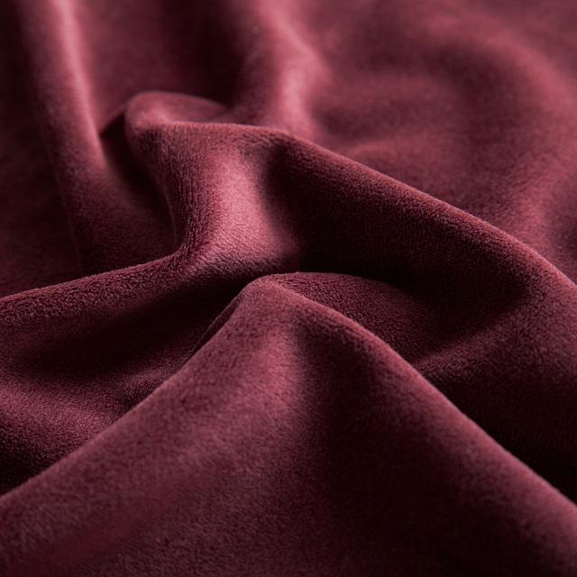 Red Wine, Fabric, Velvet, Textiles