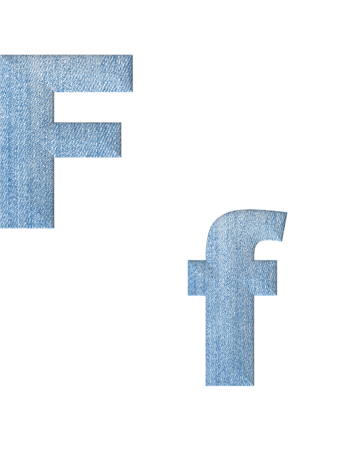 Fabric, 3d, Denim, Alphabet, Letter F, Font, Text, Type