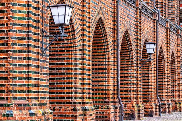 Stralsund, Facade, Brick, Historically, Architecture