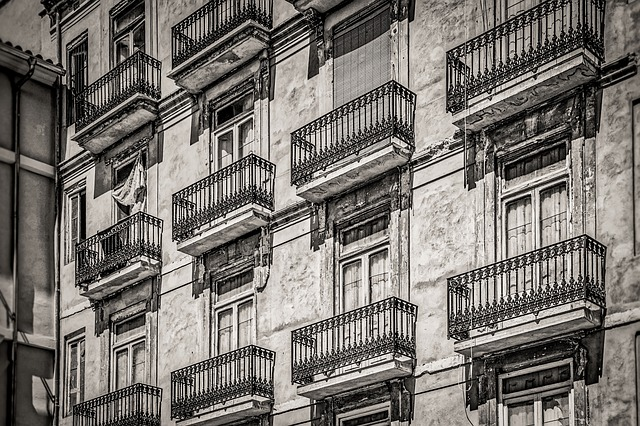Facade, House, Monochrome, Architecture, Street
