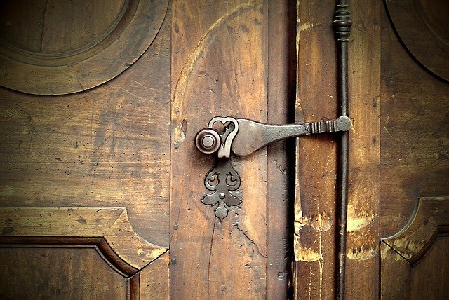 Church Door, Castle, Bolt, Front Door, Facade, Road