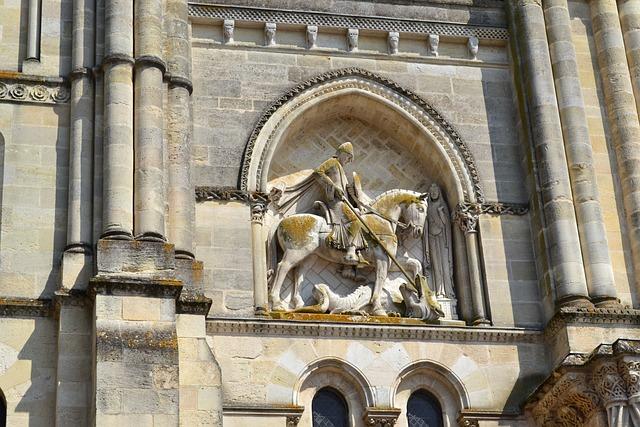 Bordeaux, Saint-georges, Facade, Church, High Relief