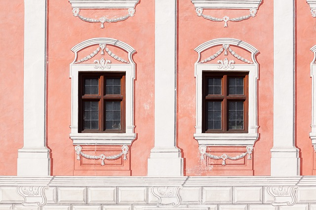 Facade, Dusky Pink, Window, Painting, White, Decor
