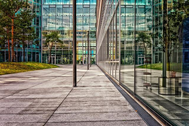 Architecture, Office, Modern, Glass, Facade, Business