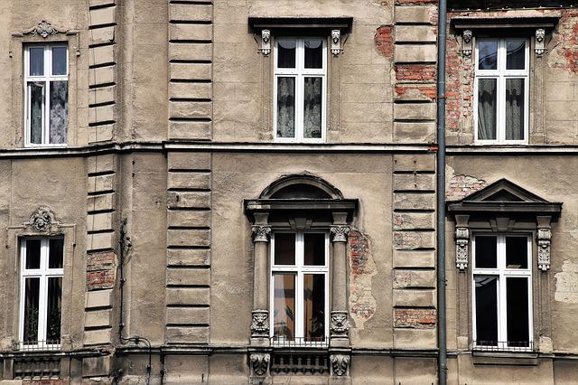 Old Windows, Old Plaster, Facade, Kamienica, Monument